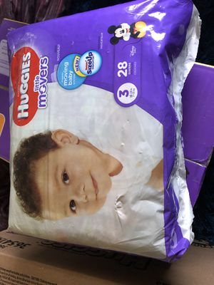 Huggies little movers size 3 for Sale in Dallas, TX
