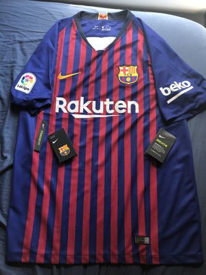 FC Barcelona mens Nike 2018 2019 home soccer Jersey size XL BRAND NEW for Sale in Fairfax, VA