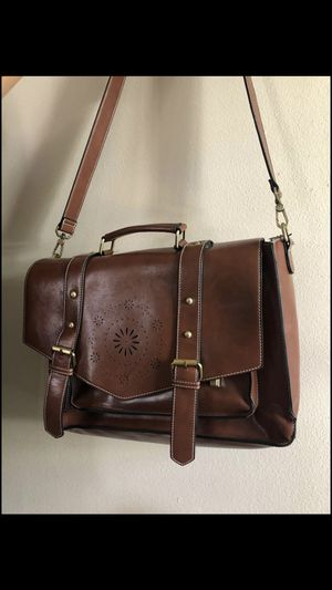 Faux leather laptop bag for Sale in Gardena, CA