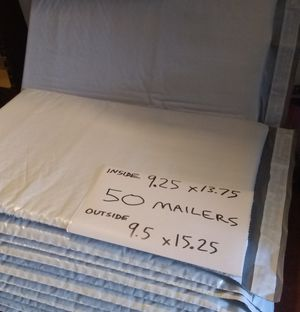 50 New Self Seal Sticking Adhesive 9.25x13.75 Shipping Mailing Envelopes Poly Bubble Mailer Bags for Sale in El Monte, CA