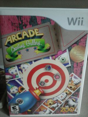 NINTENDO WII VIDEO GAME, ARCADE SHOOTING GALLERY for Sale in Calexico, CA