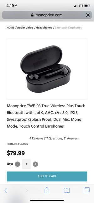 Wireless headphones/earphones for Sale in Fontana, CA