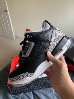 Jordan 3 black cement 2018 for Sale in Tukwila, WA