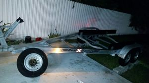 aluminum double axle boat trailer 19 to 25 foot extreme everything Marine trailer 8000 lb trailer ready for the water for Sale in Miami Gardens, FL