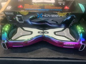 Hover-1 H1- UL 2272 Certified- Electric Self Balancing Hoverboard with Bluetooth, LED Lights and App Connectivity Color: IRIDESCENT for Sale in Herndon, VA