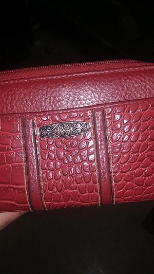 Red leather wallet for Sale in Mineola, TX