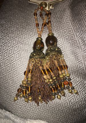 Beaded Tassel Trimmings and Beaded Candle Holder Orn. for Sale in Raleigh, NC