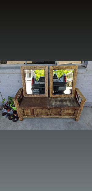 Rustic Bench and Mirrors for Sale in Salt Lake City, UT
