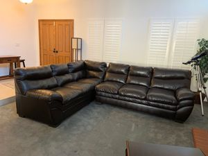 Leather sectional couch for Sale in Orange, CA