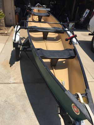 Fishing canoe and trailer for Sale in Highland, CA