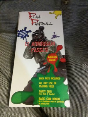 Paintball passes for 7 in okc for Sale in Oklahoma City, OK