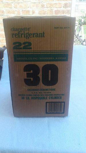 R22 Freon Sealed 30lbs jug for Sale in Chicago, IL