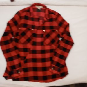Authentic Small Michael Kors Black And Red Checkered Collard Shirt for Sale in Haddon Heights, NJ