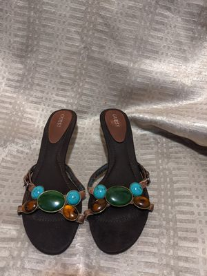 """*itch You Guessing?!"" GUESS Short Heel Sandals for Sale in St. Louis, MO"