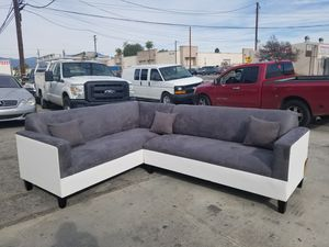 NEW 7X9FT CHARCOAL MICROFIBER SECTIONAL COUCHES for Sale in Tulare, CA