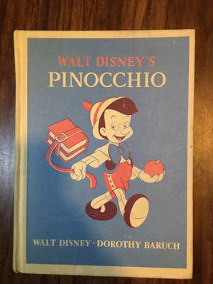 Walt Disney Signed 1940 Pinocchio illustrated book 1st edition for Sale in Humble, TX
