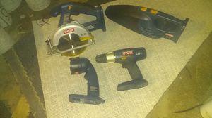 Ryobi cordless saw,drill,flashlight& vacuum for Sale in Clairton, PA