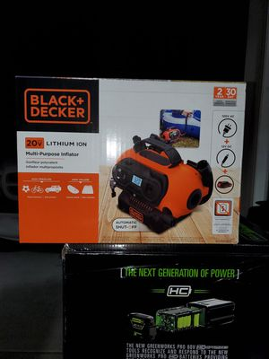 Brand new Black+Decker multi purpose 20v inflator for Sale in Welcome, NC