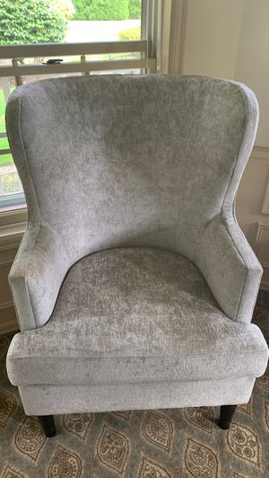 Crushed velvet wing back chair for Sale in Tacoma, WA