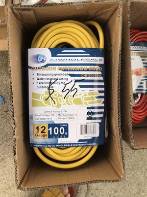 Outdoor extension cord 100 feet for Sale in El Monte, CA