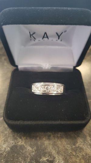 Leo Diamond Men's Band 1ct tw Round cut 14k white gold for Sale in Waterbury, CT