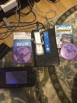 Nintendo Wii U + 2 games including super smash for Sale in Tacoma, WA