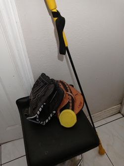 Misc Softball Stuff.... Spin Right Spinner .. Batting Stick and Softball Glove And Catchers glove for Sale in Santa Ana,  CA