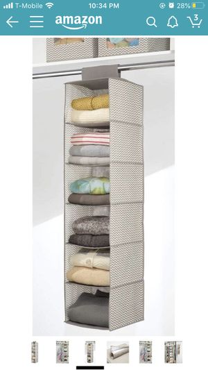 6 shelves Closet organizer for clothes for Sale in Fullerton, CA