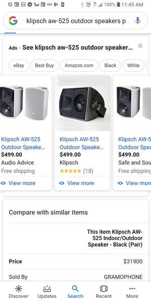 Klipsch outdoor speakers for Sale in Winton, CA