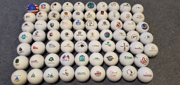 -Assortment of 68 logo balls-