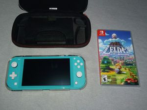 Nintendo switch lite, case, clear cover, and Links awakening game for Sale in Long Beach, CA