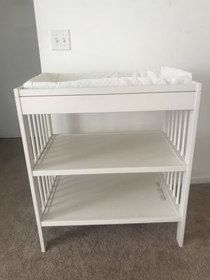 IKEA changing table and changing pad for Sale in Columbus, OH