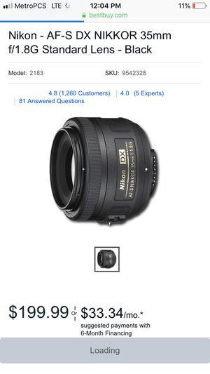 Nikkor camera lens for Sale in Baltimore, MD