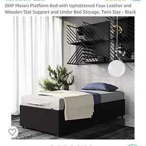 Twin Black Platform Bed Frame for Sale in Orlando, FL