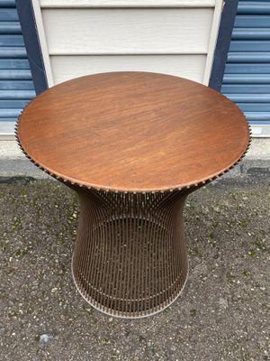 Warren Planter for Knoll Walnut & Steel Rod Side / End Table for Sale in Kirkland, WA