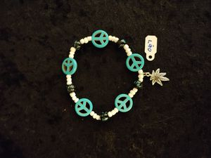 420 Handcrafted Marijuana Stretchy Beaded Bracelets for Sale in Concord, MA