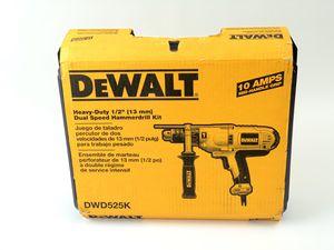 DEWALT Hammer Drill Kit, 1/2-Inch, 10-Amp, Mid-Handle Grip (DWD525K) for Sale in Los Angeles, CA