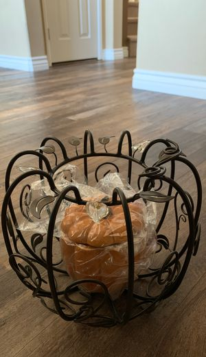 PartyLite Pumpkin Pillar Holder and Pumpkin candle/candy holder for Sale in Beverly Hills, CA