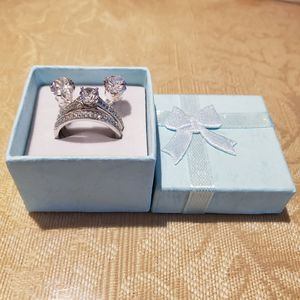 VINTAGE STERLING SILVER RING+EARRING SET for Sale in Schaumburg, IL
