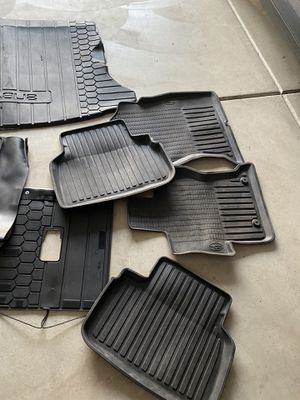 Subaru Impreza all weather floor mats and trunk mat + trunk cover for Sale in Ontario, CA