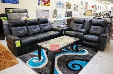 In Stock ~[SPECIAL] Kempten Black LED Reclining Living Room Set byAshley Sofa/Couch and Loveseat for Sale in Laurel,  MD