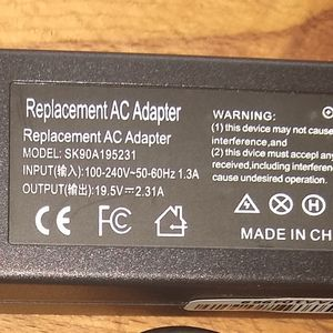 LAPTOP AC ⚡ADAPTOR SK90A195231 notebook computer power supply adapter generic for Sale in Bellevue, WA