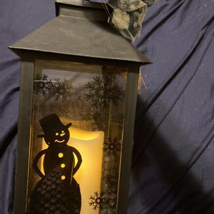 Snowman Lantern LED Candle Uses AAA battery for Sale in Hicksville, NY