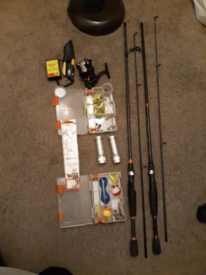 Fishing gear kit, must take all for Sale in Moreno Valley, CA