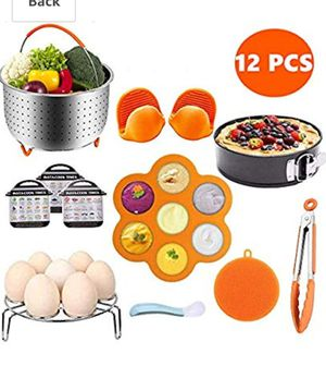 Pressure Cooker Accessories Set, Compatible with Instant Pot 5,6,8 QT Includes Steamer Basket, Egg Bites Molds, Springform Pan, Egg Steamer Rack for Sale in Miami, FL