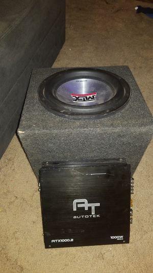 Mtx 7500 thunder sub & autotex atx1000.² amp for Sale in Seattle, WA