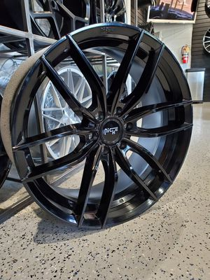 Gloss black 24x9.5 Niche Vosso wheels 6x135 and 6x139 fits chevy truck/suv and ford f150 wheel tire rim shop for Sale in Tempe, AZ