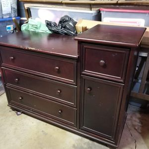 Baby Dresser Changing Table Solid Wood for Sale in Whittier, CA