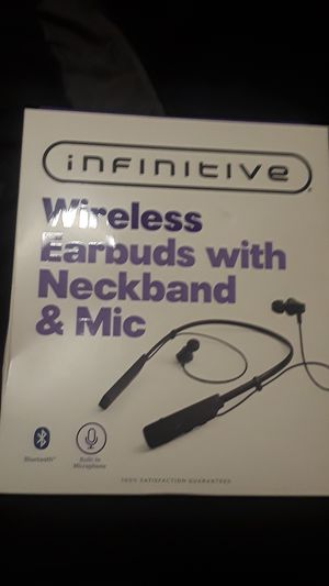 Wireless Earbuds with Neckband & Mic. for Sale in Tacoma, WA