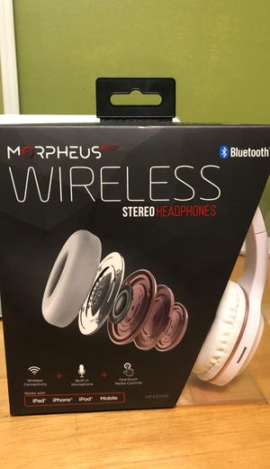 Morpheus 360 Bluetooth Headphones, Wireless Headphones Over Ear, Hi-Fi Stereo Wireless Headset with Microphone, Soft Comfortable Ear Cups, White with for Sale in Cambridge, MA